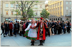 Good morning from Cracow.... have a happy day... Dzień dobry z Krakowa... radosnego dnia... POLONEZ... Polish national dance on the Market Square...
