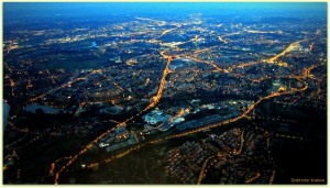 birds' eye view of Cracow... Kraków z lotu ptaka...