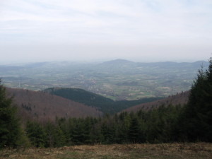 The view from the top of the Lubomir mountain... Widok ze szczytu Lubomira