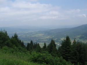 View from Lubon the Great Mountain... Widok z Lubonia Wielkiego