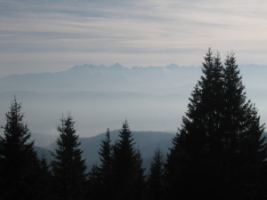 View of the Tatras from Turbacz Mountain... Widok na Tatry z Turbacza