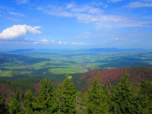 The view from the Mogielica Mountain... Widok z Mogielicy